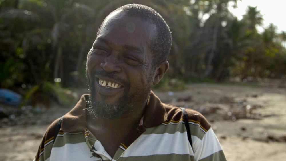 Mr. Phillip, Sauteurs Beach, Grenada.- Video Still, Tom Miller