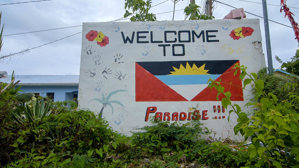 Welcome Sign, Village of Willikies, Antigua