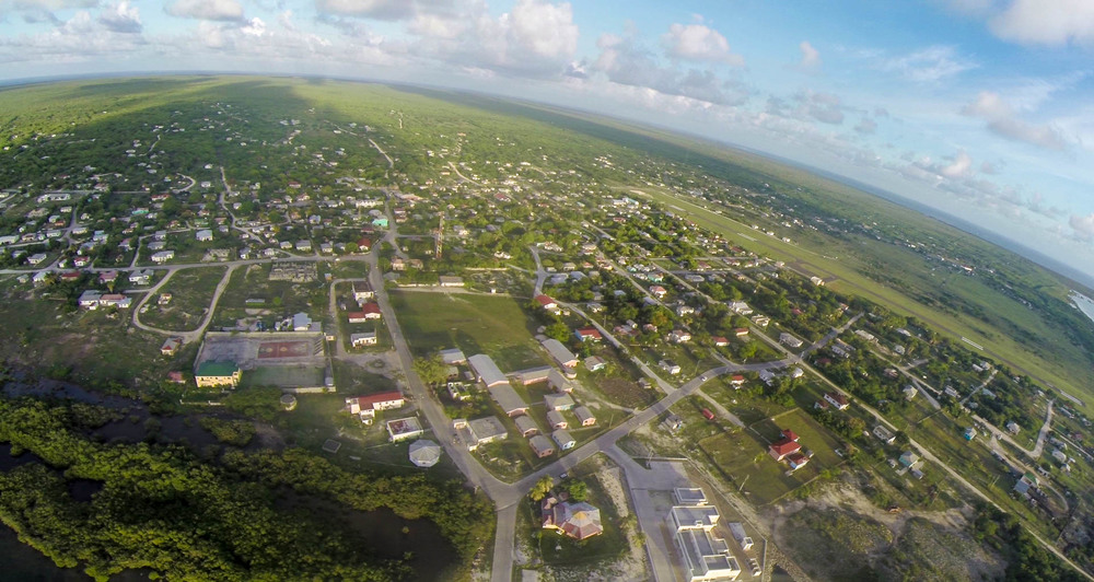 Codrington Lagoon and Town