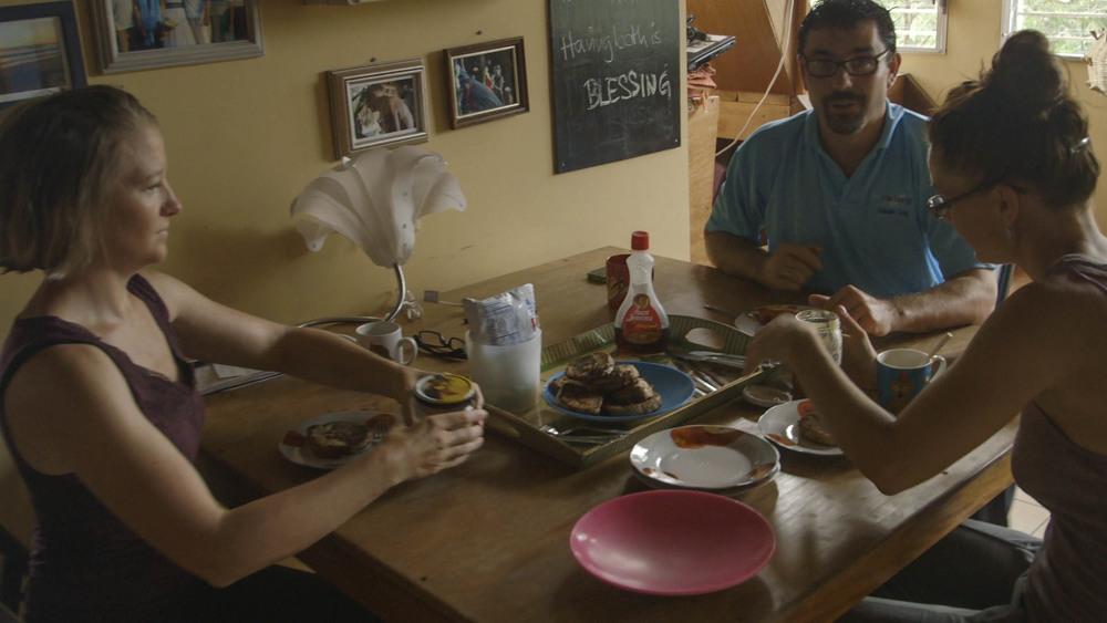 Martina made French Toast, blueEnergy - still Tom