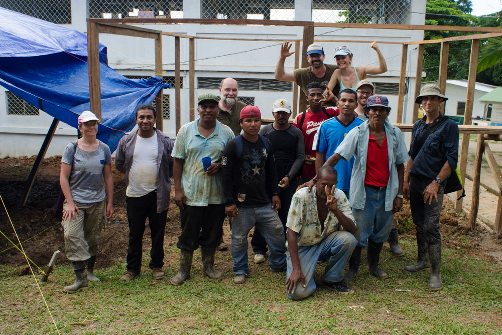 blueEnergy crew after a hard day's work at Verbo - photo, Tom Miller
