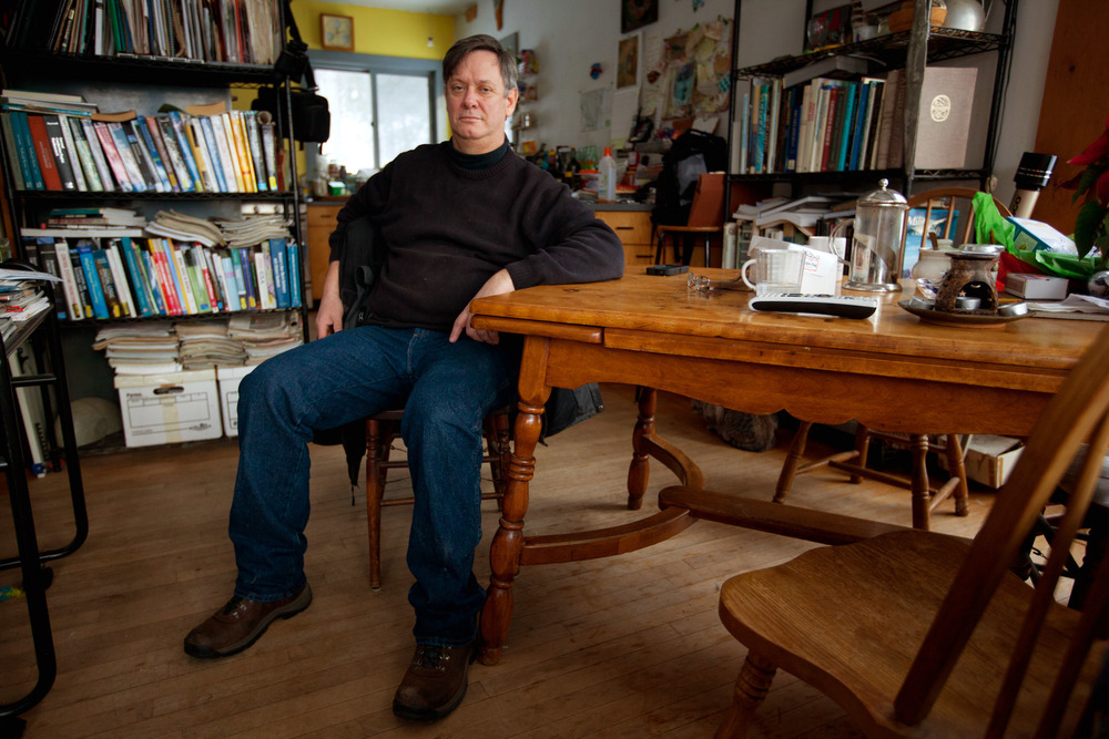 Ernie Ciccotelli poses for a photo inside his Norwich, Vermont home on Dec. 31, 2013. Ciccotelli suffered compilations after he donated a kidney to his brother in January of 2006 at Beth Israel Deaconess Hospital in Boston. Ciccotelli was unable to find a malpractice attorney to take on his case.
