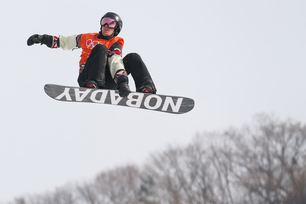 Canadian Max Parrot launches off the kicker in the second run of the second heat of the men's slopestyle event on day one of the 2018 Pyeongchang Winter Olympics at Phoenix Snow Park in Pyeongchang, South Korea, on February 10, 2018. Parrot placed first and will move on to the finals. Photo by Matthew Healey/UPI