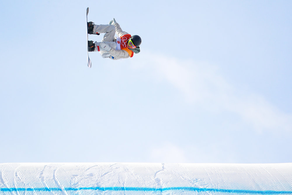 American Redmond Gerard hits the last jump of the third run of the men's slopestyle finals on day two of the 2018 Pyeongchang Winter Olympics at Phoenix Snow Park in Pyeongchang, South Korea, on February 11, 2018. Gerard took gold in the event with a best score of 87.16. He is the first American to medal in the Games so far. Photo by Matthew Healey/UPI