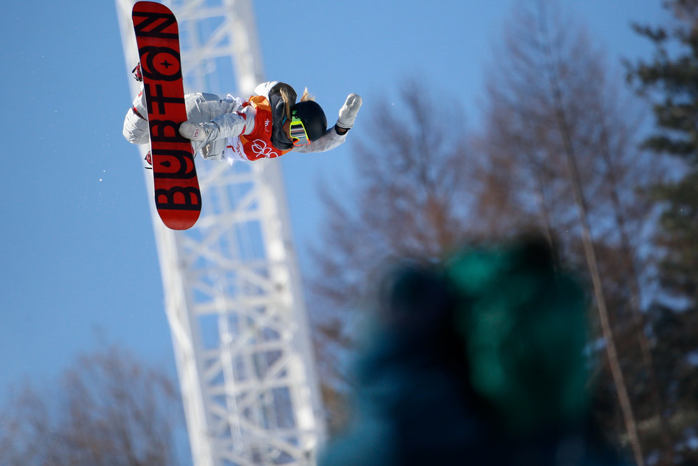 Chloe Kim of the United States competes in the Ladies' Halfpipe finals at the 2018 Pyeongchang Winter Olympics at Phoenix Snow Park in Pyeongchang, South Korea, on February 13, 2018. Kim took gold in the event with a score of 98.25 . Photo by Matthew Healey/UPI