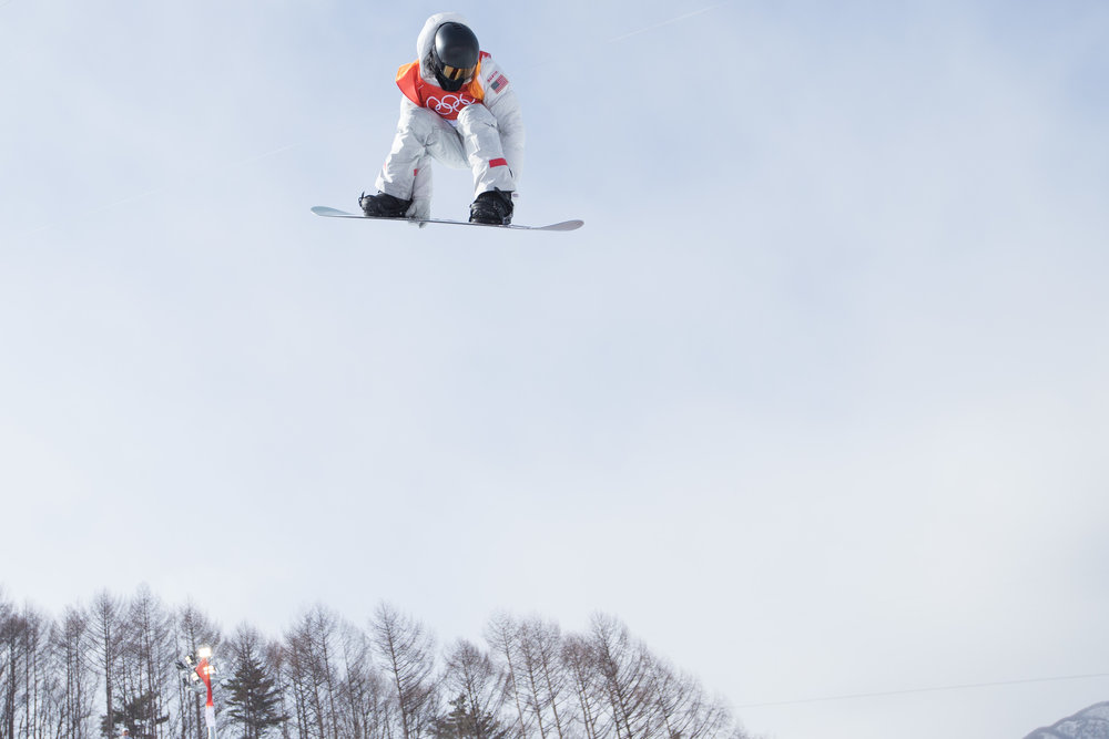 Shaun White of the United States competes in the Men's Halfpipe qualification at the 2018 Pyeongchang Winter Olympics at Phoenix Snow Park in Pyeongchang, South Korea, on February 13, 2018. Photo by Matthew Healey/UPI