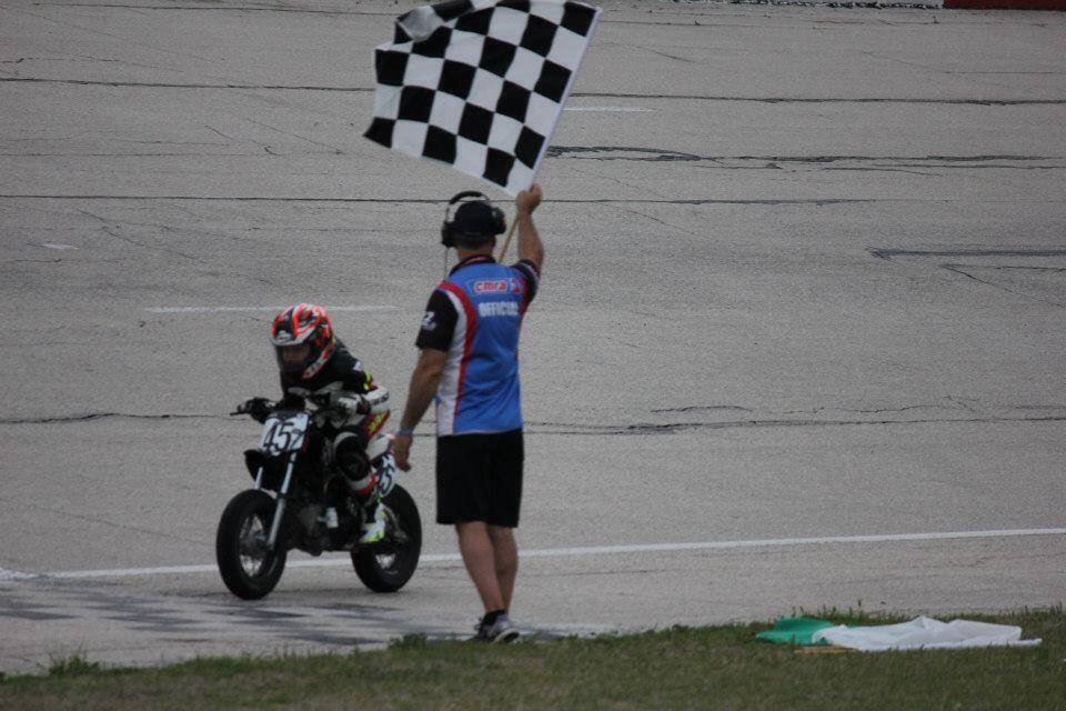 Taking the checkered flag