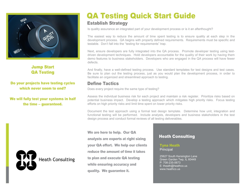 Click to view QA Testing Quick Start Guide