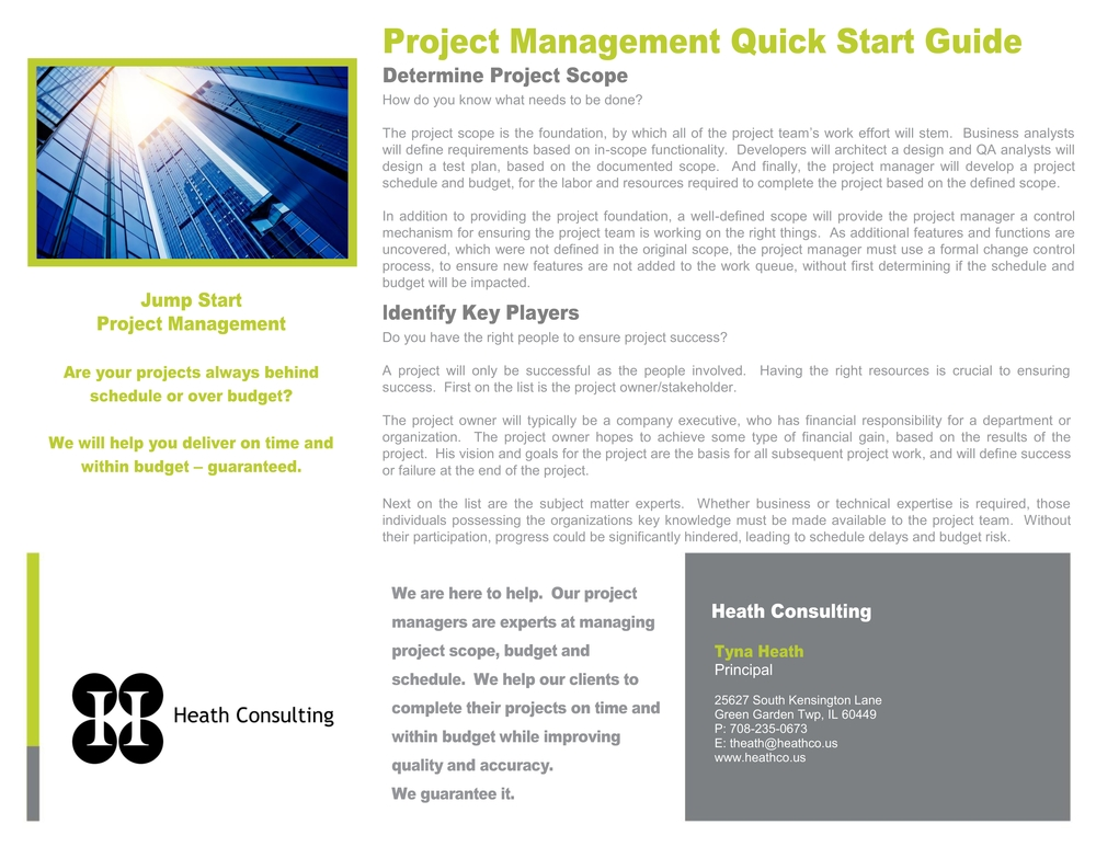 Click to view Project Mgmt Quick Start Guide