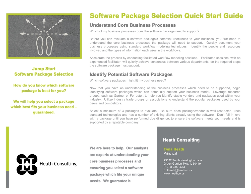 Click to view Software Package Selection Quick Start Guide