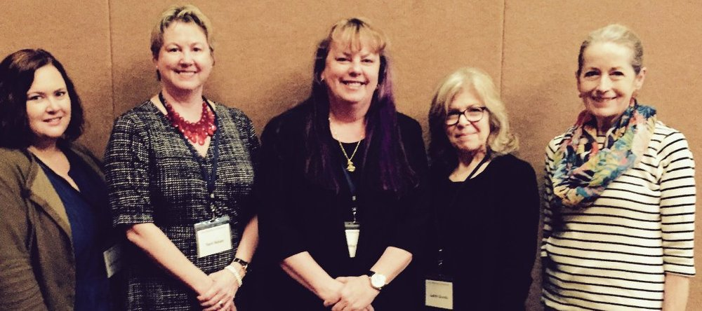 Me with fellow authors Terri Nolan, Kathy Hegarty Krevat, Judith Gonda & G.M. Malliet