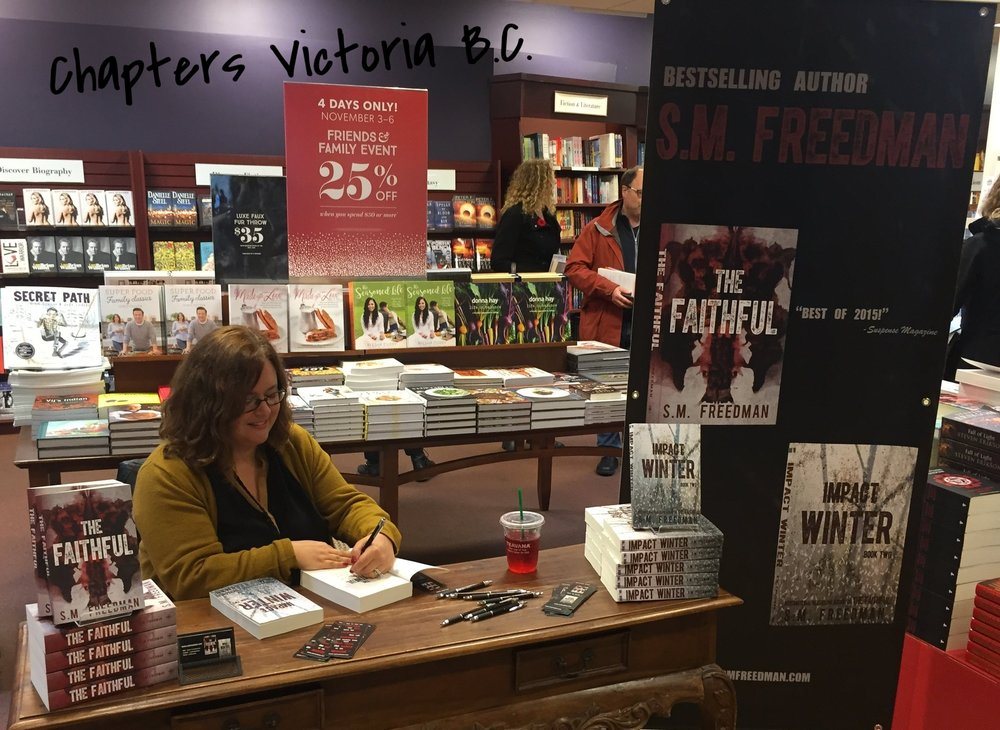 Signing at Chapters Indigo Victoria, B.C.