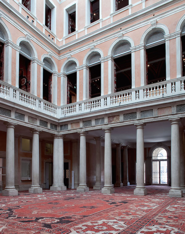 Palazzo Grassi And Teatrino, François Pinault Foundation - Installation by artist Rudolf Stingel for the Venice Biennale 2015