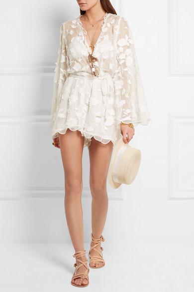 Zimmermann wrap silk playsuit