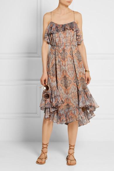 Zimmermann harlequin print dress