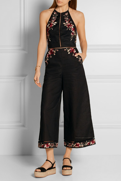 Zimmermann embroidered jumpsuit