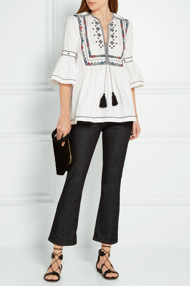 Tabitha embroidered cotton blouse