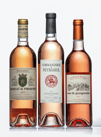 Selection of rosés Eric Asimov chose for his  New York Times Wine School column