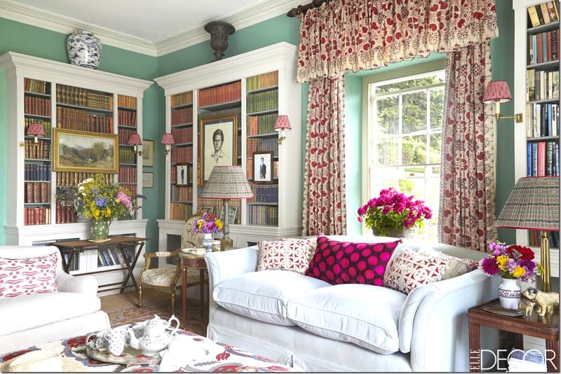 Interior Design - Classic Fabric Lampshades - Doreen Chambers Interiors Brooklyn NY