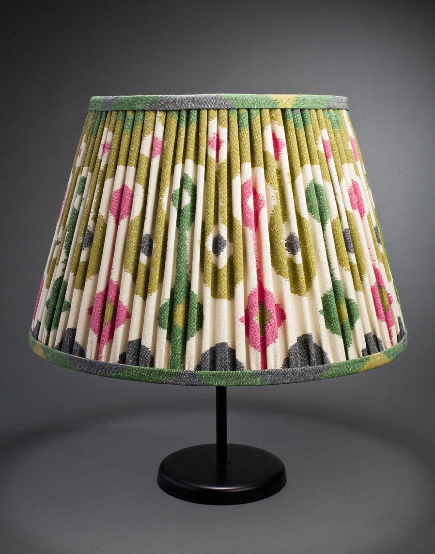 Jewel ikat loose pleated silk shade from Illumé - 223 East 58th Street, NY - (212) 308-1400