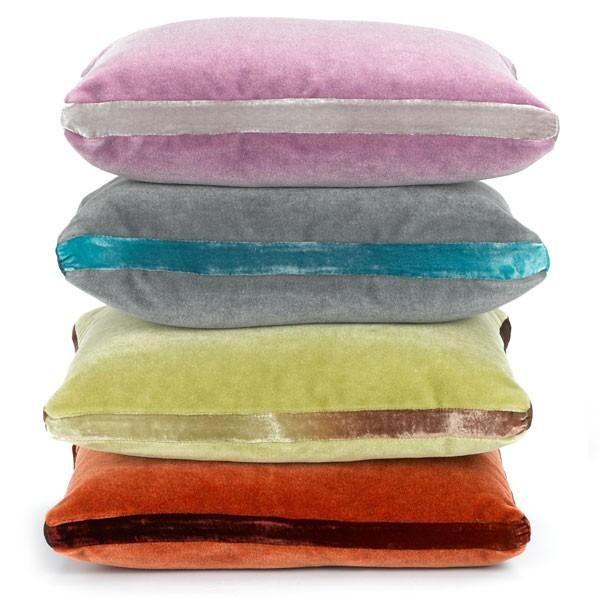 Nina Campbell mohair velvet cushions