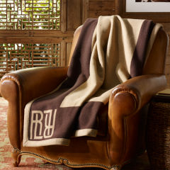 Classic signature Montclair throw blanket by Ralph Lauren