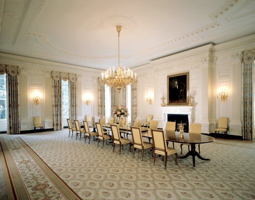 Thought I'd  include a room decorated during former President Clinton's reign - Their State Dining Room