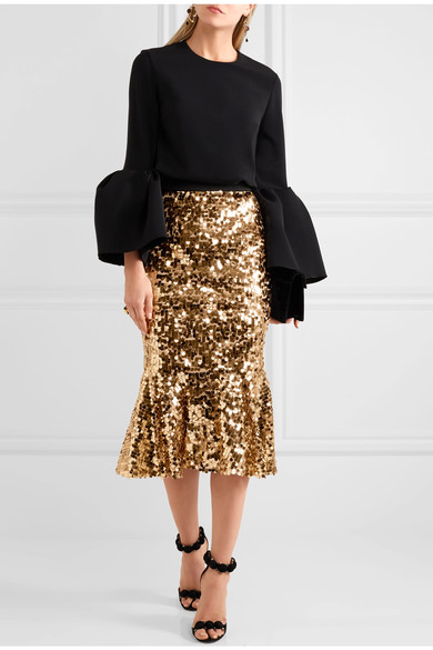 Dolce & Gabbana ruffled sequined skirt