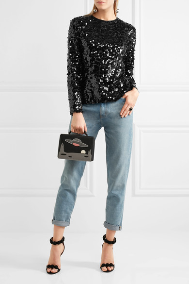 Dolce & Gabbana Sequined tulle blouse