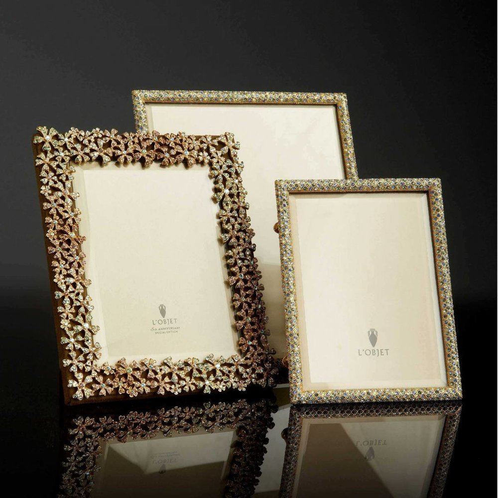 Bleu bijoux jewel frames  - opulently decorated with Swarovski crystals are collector worthy