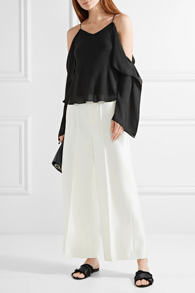 Rosetta Getty off the shoulder silk top