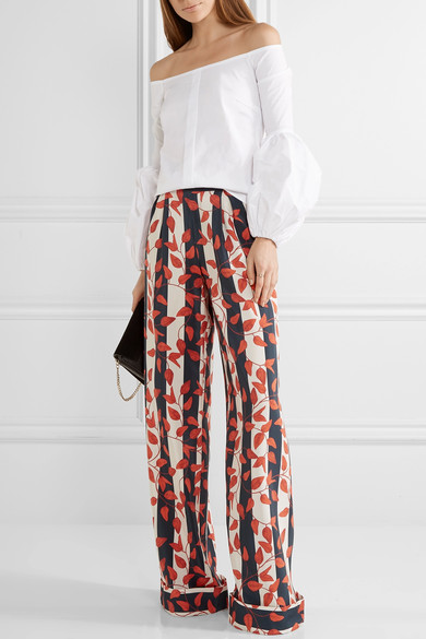 Caroline Constas giselle off the shoulder top - loving the pants too!