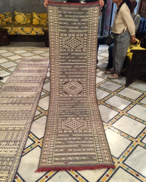 This traditional flat-weave Berber runner was the one for me...