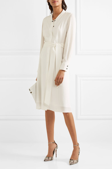 Belted voile dress by Cefinn   - nothing says summer like white