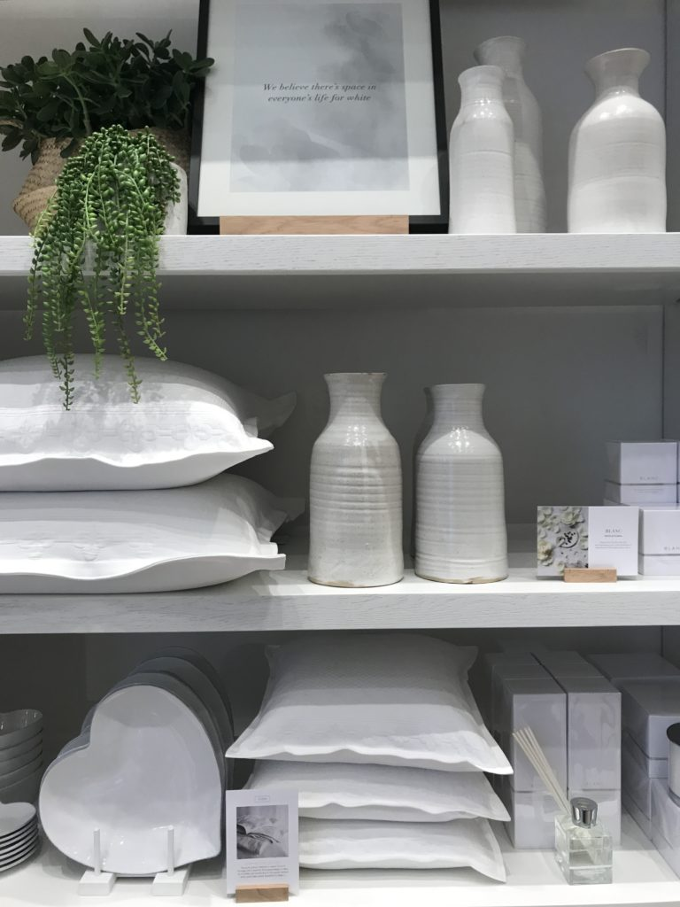 White on white on white with a dash of herbal green - love it...