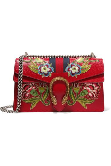 Gucci Dionysus appliquéd leather bag