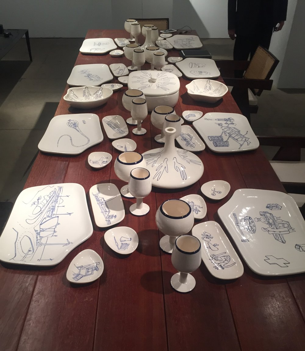 Dinner for 8??...Atelier Van Leishout is a new gallery for me that's fortunately based in New York