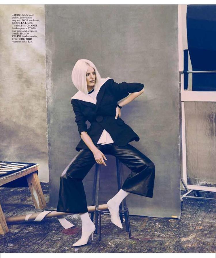 Chanel's lambskin leather wide legged cropped pants - yesss!