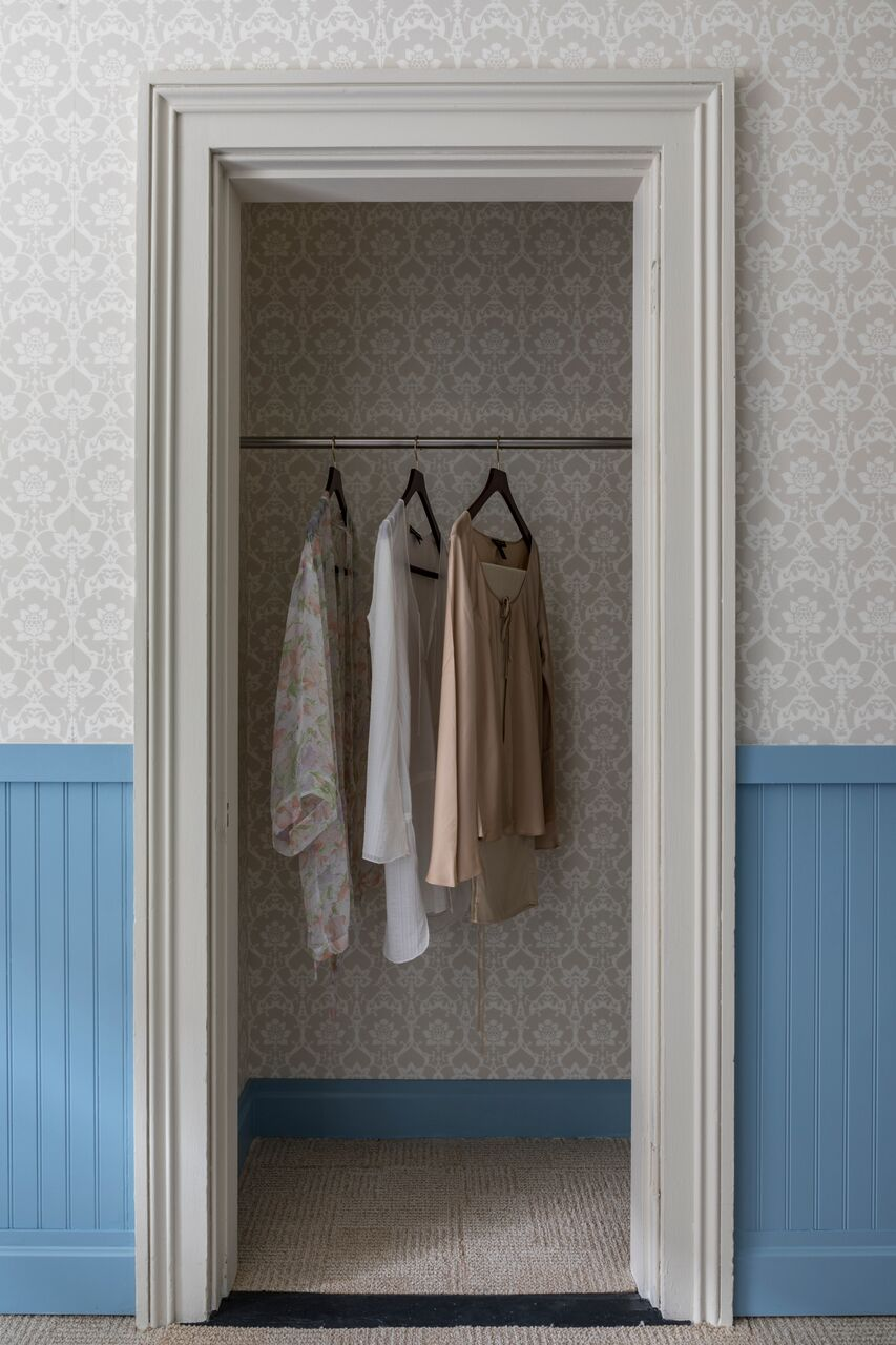 Perfect open closet for those delicate little numbers that need to air-dry