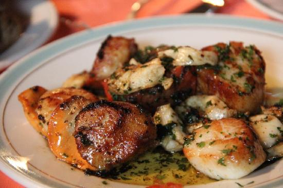 Scallops &langoustines - not always available but if it is it's a must-have