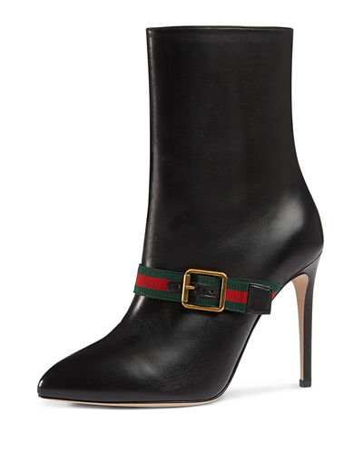 Gucci Sylvie web strap high hee l - Timeless elegant lines