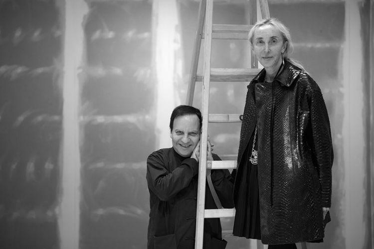 Azzedine Alaïa and Carla Sozzani - photography Sylvie Delpech courtesy Azzedine Alaïa