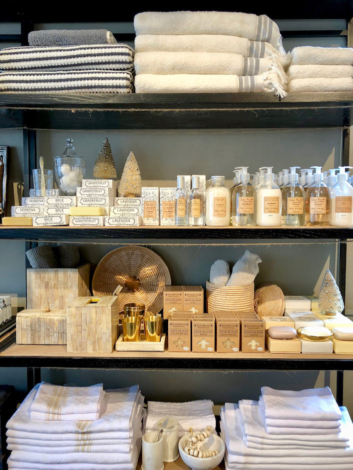 If you're having guests staying throughout the holiday season enjoy an array of artisinal soaps, toiletries, hand-made bedlinen and towels