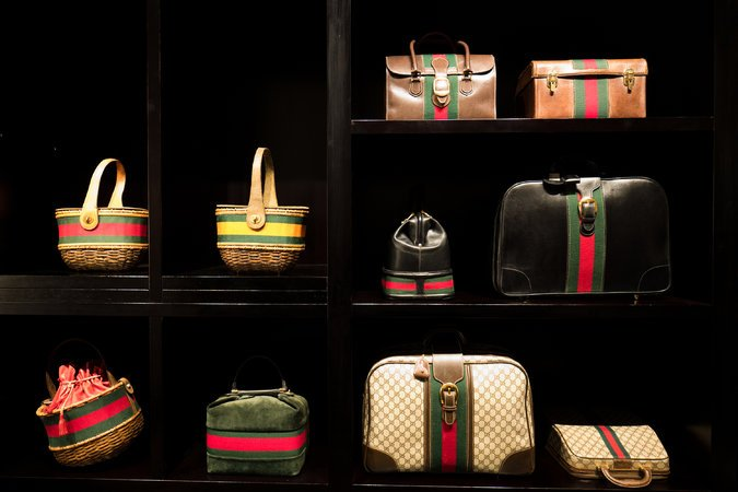The multifloor space retains elements of the museum, with galleries displaying clothing, accessories and objects from Gucci's extensive archive.  Credit Clara Vannucci for The New York Times