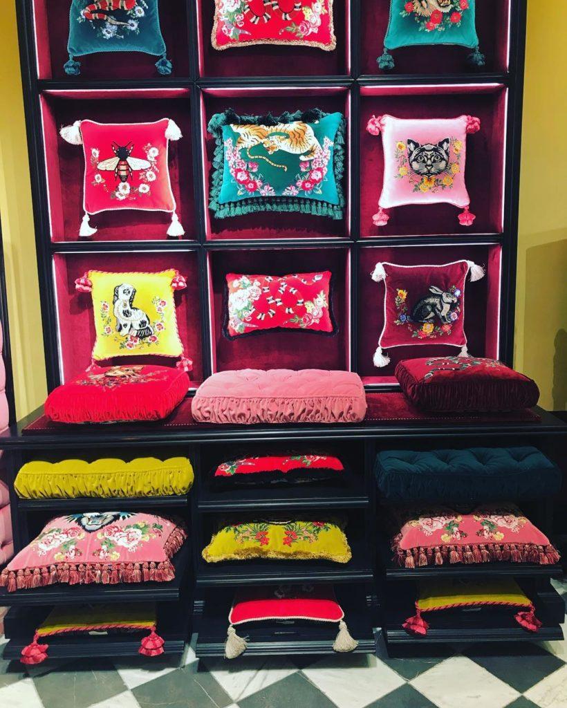 Glamorous Liing - Gucci Garden Florence - Doreen Chambers Top Interior Designer - Brooklyn - New York - South Florida