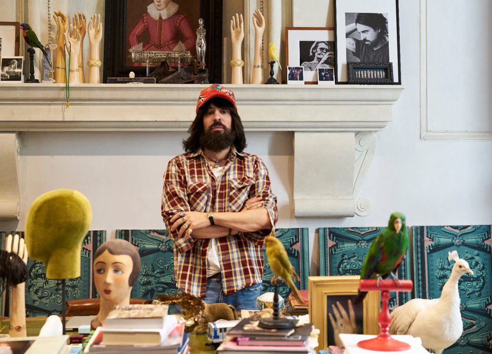 Alessandro Michele in the midst of it all
