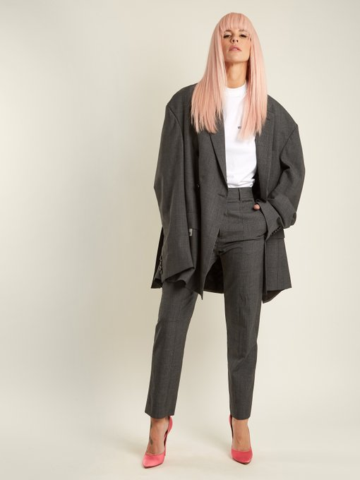Vetements oversized check pantsuit