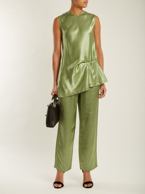 Sies Marjan satin top and pants  - contemporary ease for evening
