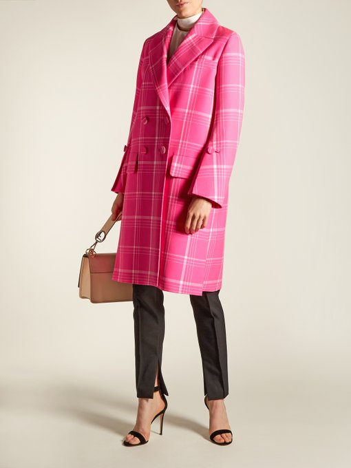 Fendi double breasted check coat  - Now this makes me think Spring! More hot pink than pastel - I love the precise tailoring and would be tempted to wear it everyday