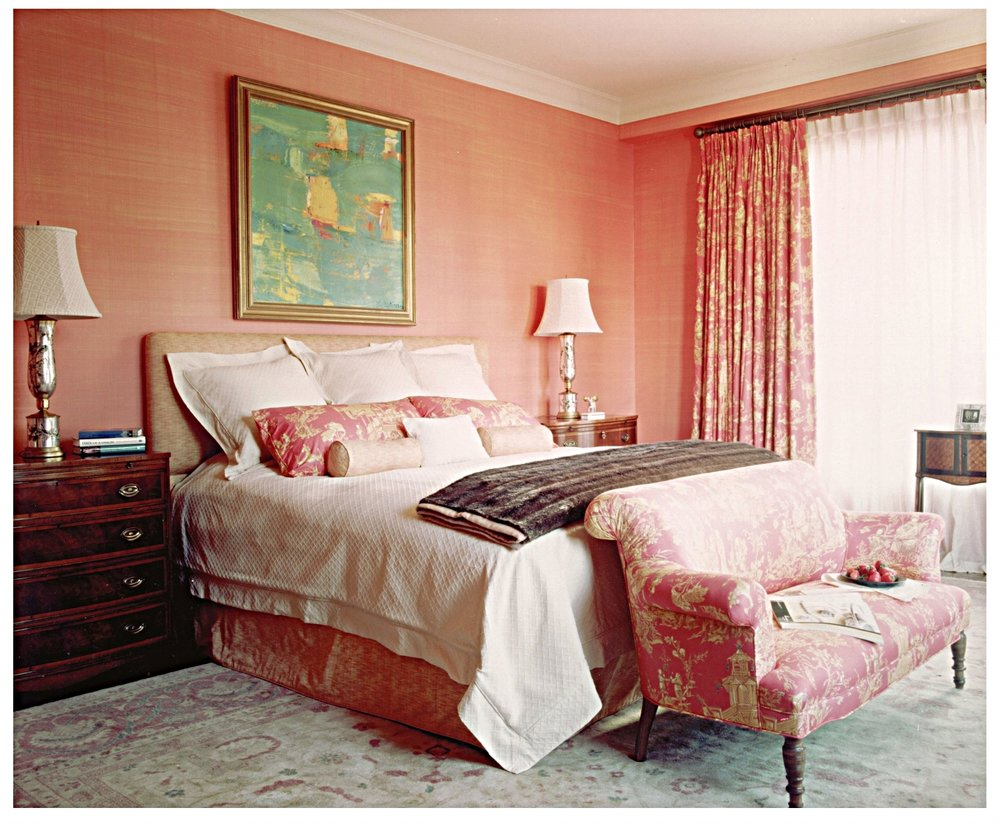 Our clients' full-on Chinoiserie maser bedroom -  Doreen Chambers Interiors